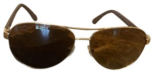 Chanel Chanel Leather Aviator Glasses