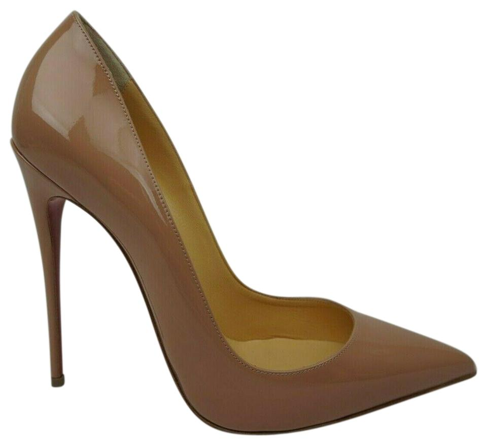 Christian Louboutin Nude Classic So Kate 120mm Patent