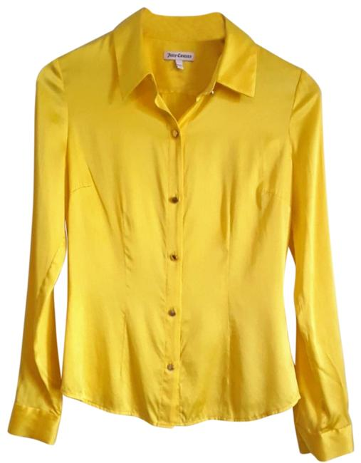 Preload https://img-static.tradesy.com/item/25368845/juicy-couture-yellow-silk-blouse-size-4-s-0-6-650-650.jpg