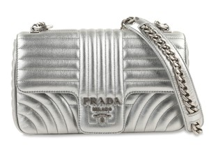 Prada Pattina Monogram Shoulder Bag