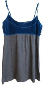 Free People Top Royal Blue & Gray