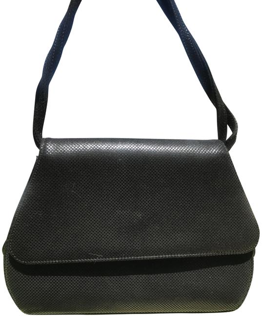 Item - Black Lizard Leather Cross Body Bag