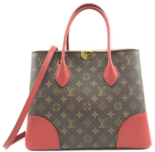 Preload https://img-static.tradesy.com/item/25369057/louis-vuitton-29508-rare-flanderin-two-way-satchel-hand-tote-monogram-and-red-leather-coated-canvas-0-2-540-540.jpg