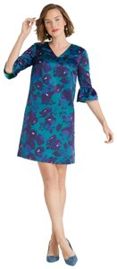 Draper James Deep Teal Cocktail Wedding Guest Dress
