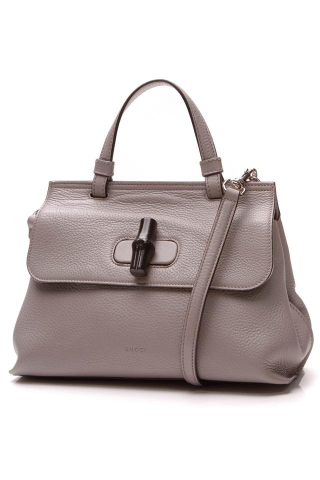 6089a59ce566 Gucci Top Handle Bag Bamboo Daily - Gray Leather Satchel - Tradesy