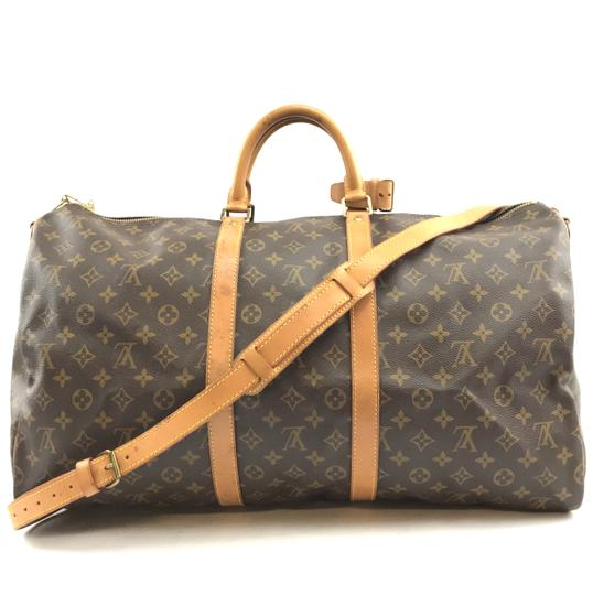 52f60892f63e Louis Vuitton Duffle Keepall  29533 with Strap 55 Bandouliere Tote ...