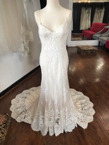Maggie Sottero Ivory Champagne Nola Formal Wedding Dress Size 6 (S)