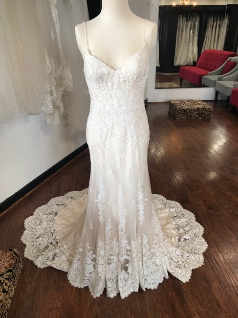 Maggie Sottero Ivory Champagne Nola Formal Wedding Dress Size 4 (S) Maggie Sottero Ivory Champagne Nola Formal Wedding Dress Size 4 (S) Image 1