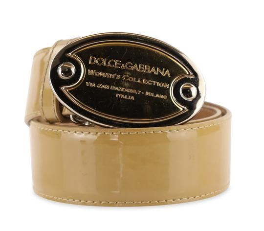 Preload https://img-static.tradesy.com/item/25369653/dolce-and-gabbana-beige-patent-leather-belt-0-2-540-540.jpg