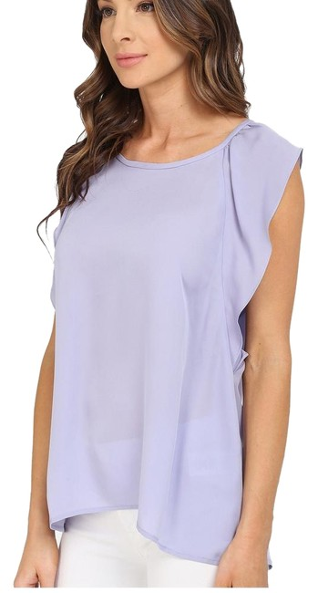 Item - Lavender Purple Hiatte Flutter Ruffle Silk Sleeveless - S Small - New Tags Blouse Size 4 (S)