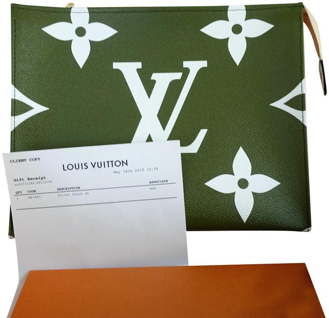 Item - Khaki Green / Beige Toiletry Pouch XL Giant Monogram 26 Limited Edition Cosmetic Bag