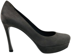 Saint Laurent Ysl Gisele Platform Grey Pumps