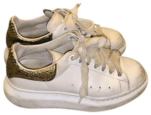 Alexander McQueen white and gold and black Athletic