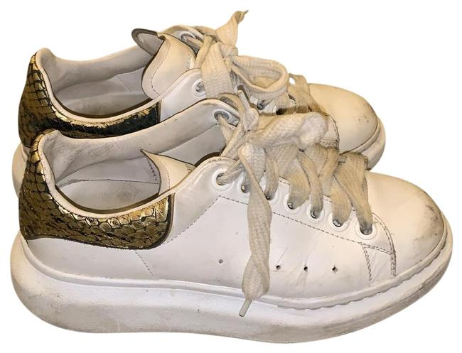 Item - White and Gold and Black Sneakers Size US 5.5 Regular (M, B)