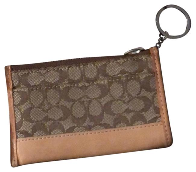 Item - Brown and Tan Keychain with Zipper Wallet