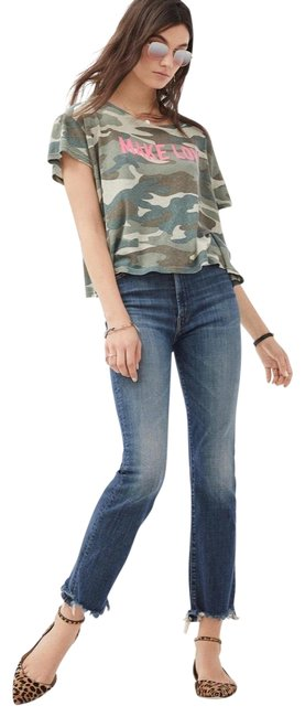 Item - Blue Medium Wash The Hustler Ankle Chew High Waisted Rise Straight Leg Jeans Size 2 (XS, 26)