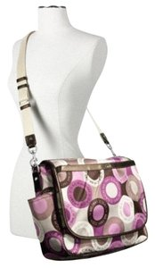 Coach Limited Edition Signature Tote C Girl Pink Multicolor Diaper Bag