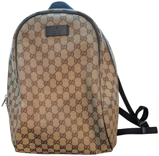 Preload https://img-static.tradesy.com/item/25370476/gucci-gg-brown-canvas-backpack-0-1-540-540.jpg