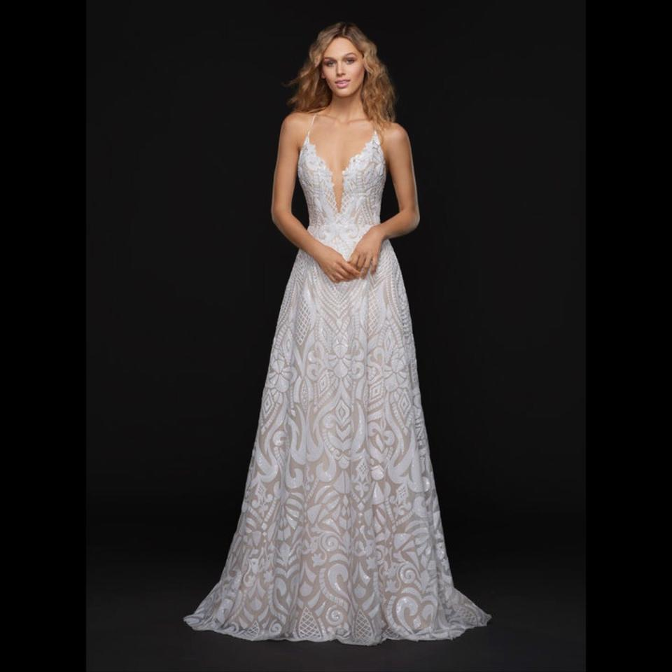 Sequin Wedding Gown: Blush By Hayley Paige Ivory / Cashmere Sequin Beaded All