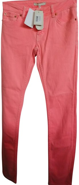 Item - Neon Orange Light Wash Eu 34 Skinny Jeans Size 25 (2, XS)