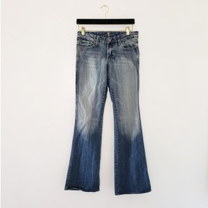7 For All Mankind Flare Leg Jeans-Acid
