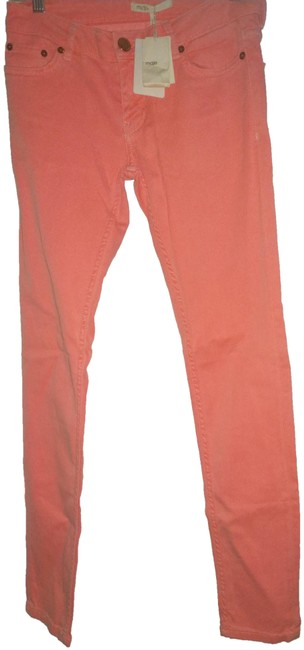 Item - Neon Orange Light Wash Eu 36 Skinny Jeans Size 26 (2, XS)