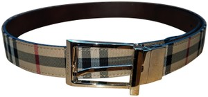 Burberry burberry vintag check leather belt