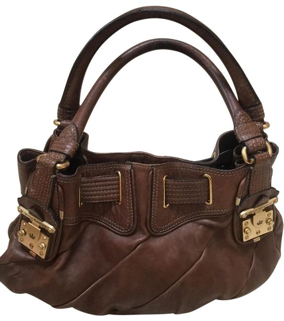 Item - With Gold Hardware. Brown Leather Hobo Bag