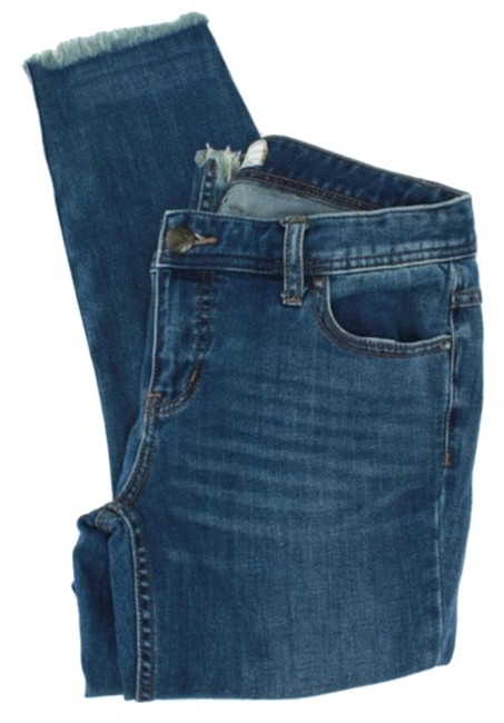 Item - Blue Distressed Released Hem Ankle Capri/Cropped Jeans Size 29 (6, M)