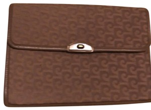 Pierre Cardin Brown and Tan Clutch
