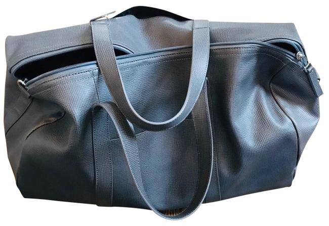Item - Gray Leather Weekend/Travel Bag