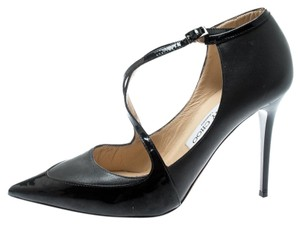 Jimmy Choo Leather Pointed Toe Black Pumps