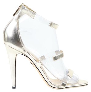 Tamara Mellon High Heels Calf Leather Floating gold Sandals
