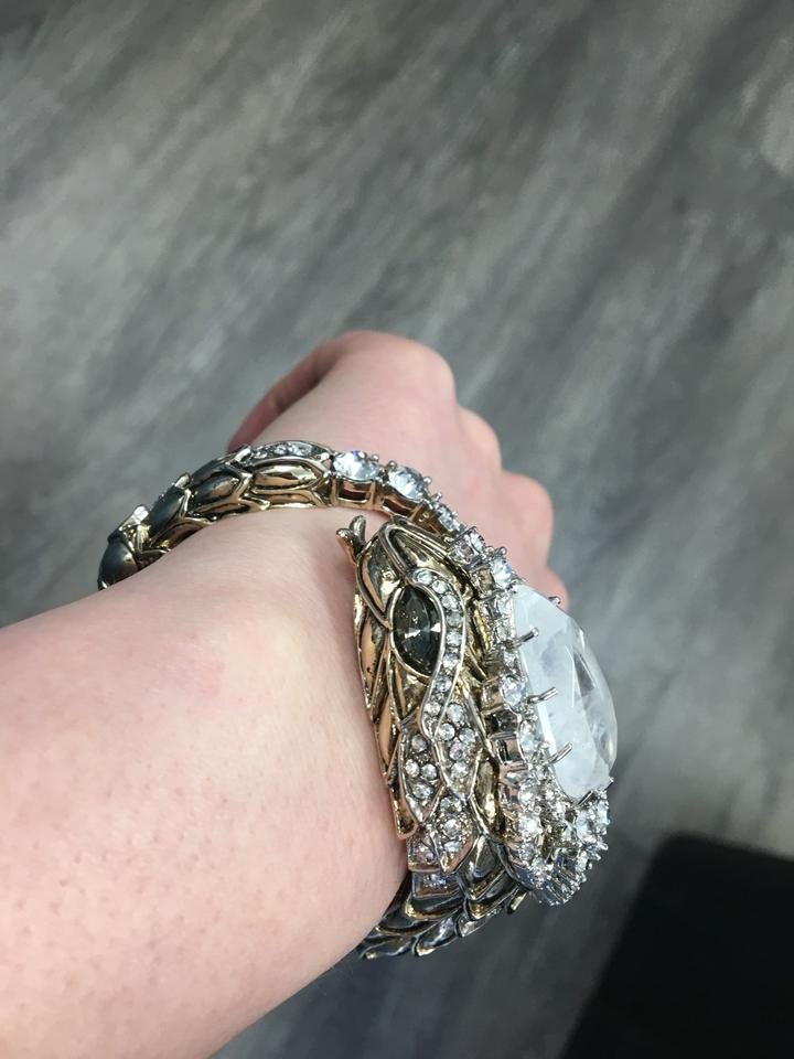 d836efd052600 Roberto Cavalli Gold Serpent Swarovski Crystal Made In Italy Bracelet 85%  off retail