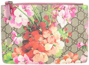 Gucci Pouch Blooms Canvas Brown and multicolor Clutch