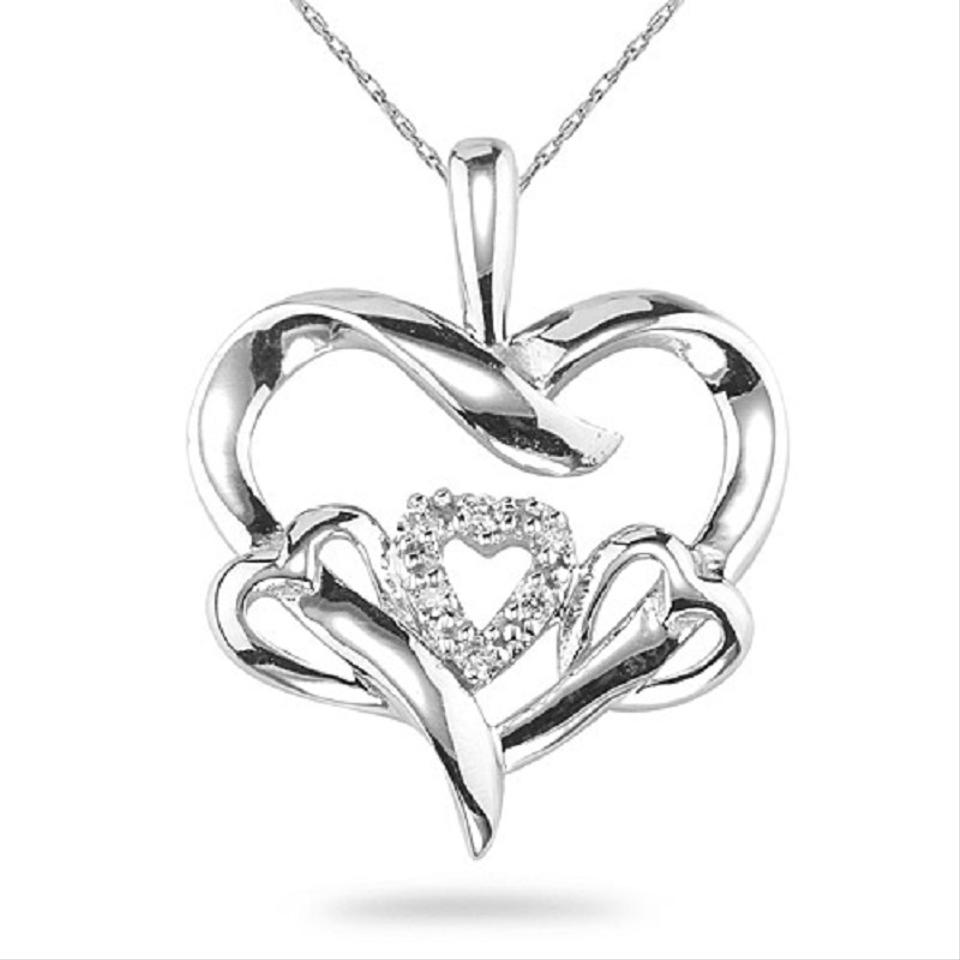bd97c33bc62 Apples of Gold 3 HEARTS IN 1 DIAMOND HEART NECKLACE Image 0 ...