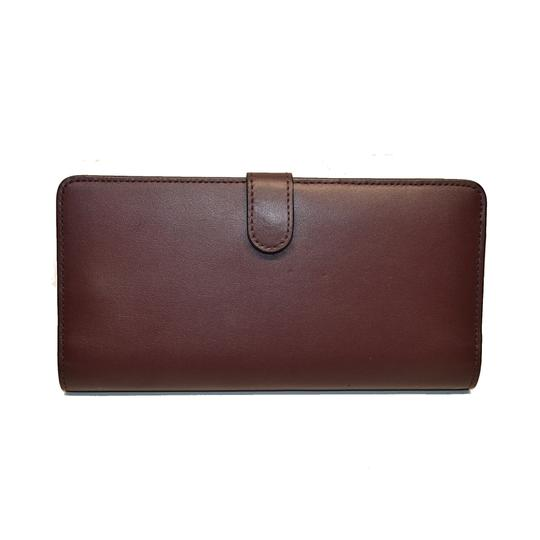 Coach Smooth Leather Skinny Wallet Clutch New Image 3
