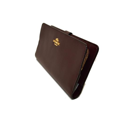 Coach Smooth Leather Skinny Wallet Clutch New Image 4