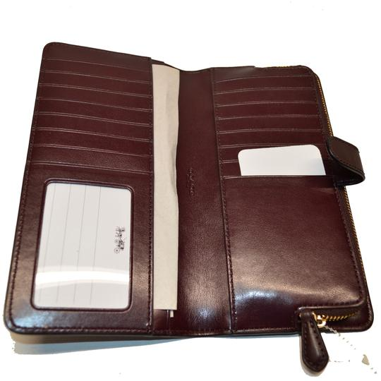 Coach Smooth Leather Skinny Wallet Clutch New Image 5