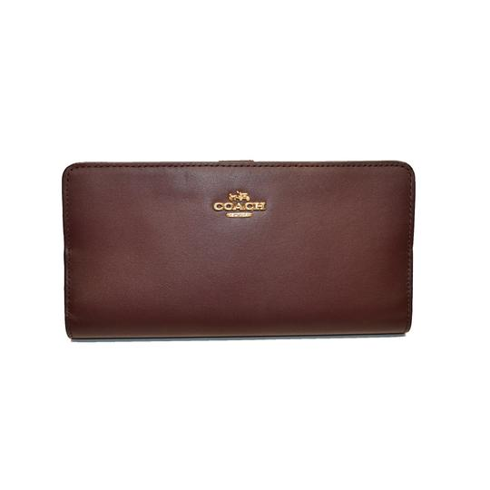 Coach Smooth Leather Skinny Wallet Clutch New Image 7