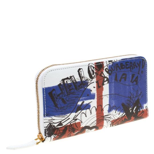Burberry White Doodle print Coated Canvas Zip Around Wallet Image 2