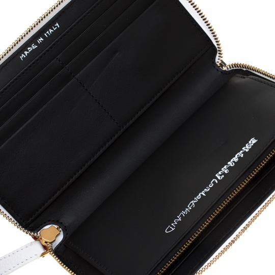 Burberry White Doodle print Coated Canvas Zip Around Wallet Image 8