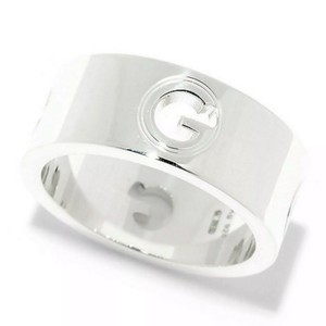 "Gucci ""G"" Cut-Out 8mm Trademark Band Ring"