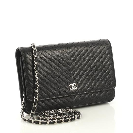 Chanel Chanel Wallet on Chain Chevron Caviar Image 2