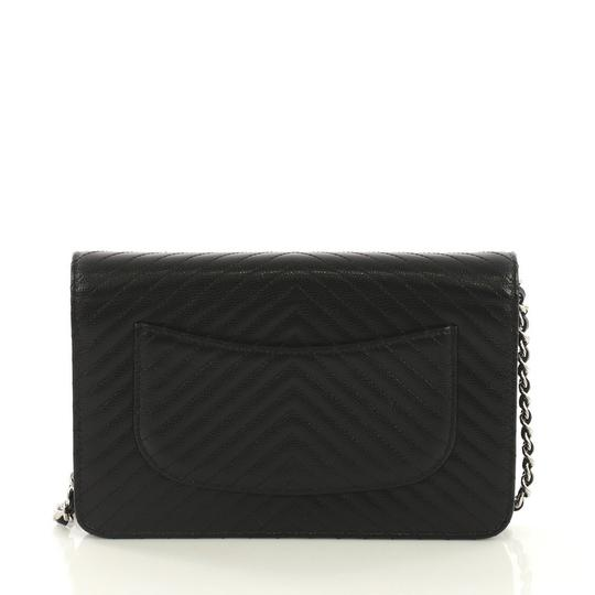 Chanel Chanel Wallet on Chain Chevron Caviar Image 3