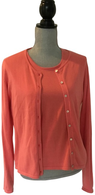 Item - Coral Classic Two Piece Cardigan Size 10 (M)