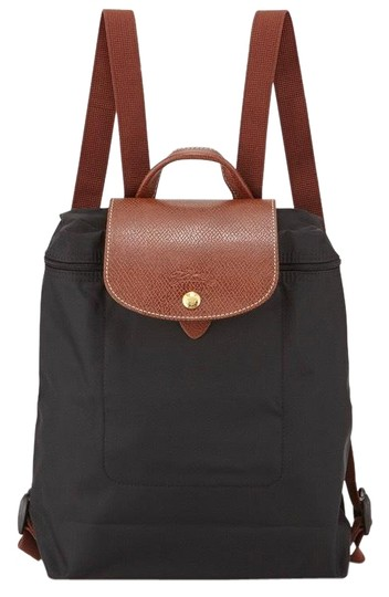 Preload https://img-static.tradesy.com/item/25373355/longchamp-le-pliage-nylon-gold-leather-black-backpack-0-1-540-540.jpg