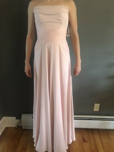 6004616753b White by Vera Wang Blush Pink Cotton and Polyester Strapless Georgett   Vw360451 Formal Bridesmaid