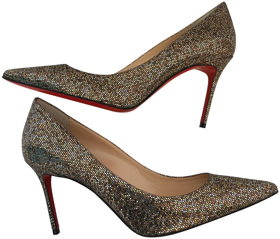 pretty nice fddcd 35b57 Christian Louboutin Multicolor Classic Decollete 554 85mm Regina Glitter  Point-toe Leathers Heels Pumps Size EU 37.5 (Approx. US 7.5) Regular (M, B)