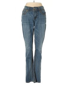 Seven7 Mid Rise Whiskering Skinny Jeans-Medium Wash